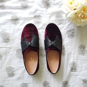 Kate Spade Delise Slip-On Velvet Bow Sneaker